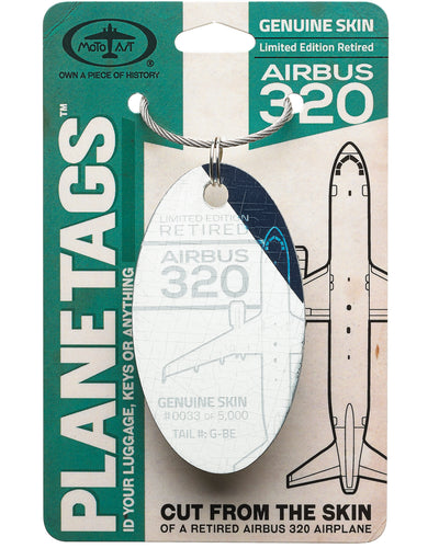 Custom Airbus 320 PlaneTag  Tail# G-BE