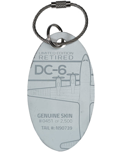 Custom DC-6 PlaneTag  Tail# N90739