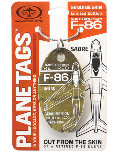 Limited Edition F-86 Sabre PlaneTag  1949-1956