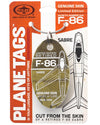Custom Limited Edition F-86 Sabre PlaneTag  1949-1956