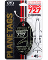 Custom Boeing 727 PlaneTag Tail #VP-BDJ