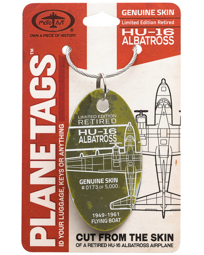 Custom HU-16 Albatross Plane Tag