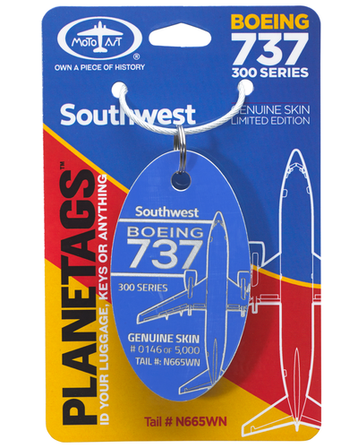 Southwest 737 PlaneTag Tail# N665WN