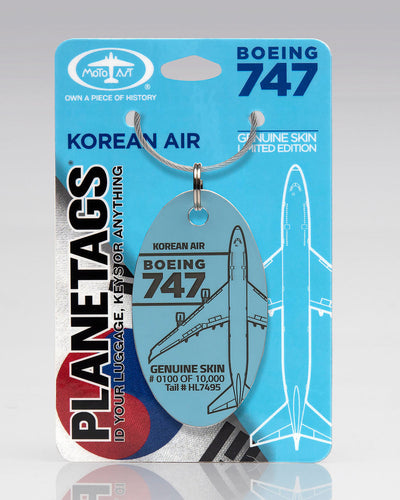 Korean Air Boeing 747-400 PlaneTags HL7495