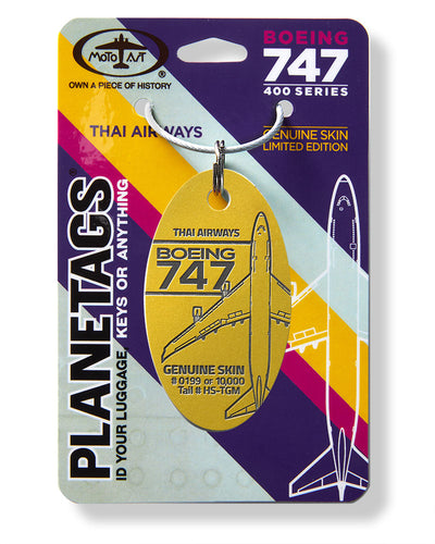 Boeing Thai Airways 747 PlaneTag Tail #HS-TGM