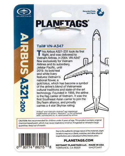 Custom Vietnam Airlines Airbus A321-200 - PLANETAGS TAIL #VN-A347