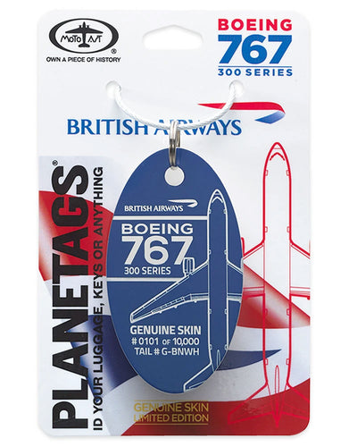 Custom British Airways 767 - PLANETAGS TAIL #G-BNWH