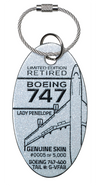 "Custom Virgin Airlines ""Lady Penelope"" Boeing 747 PlaneTag  Tail# G-VFAB"