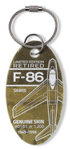 F-86 Sabre Retired Aircraft Aviation PlaneTag