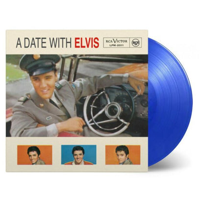 A Date with Elvis LP (Transparent Blue Vinyl)
