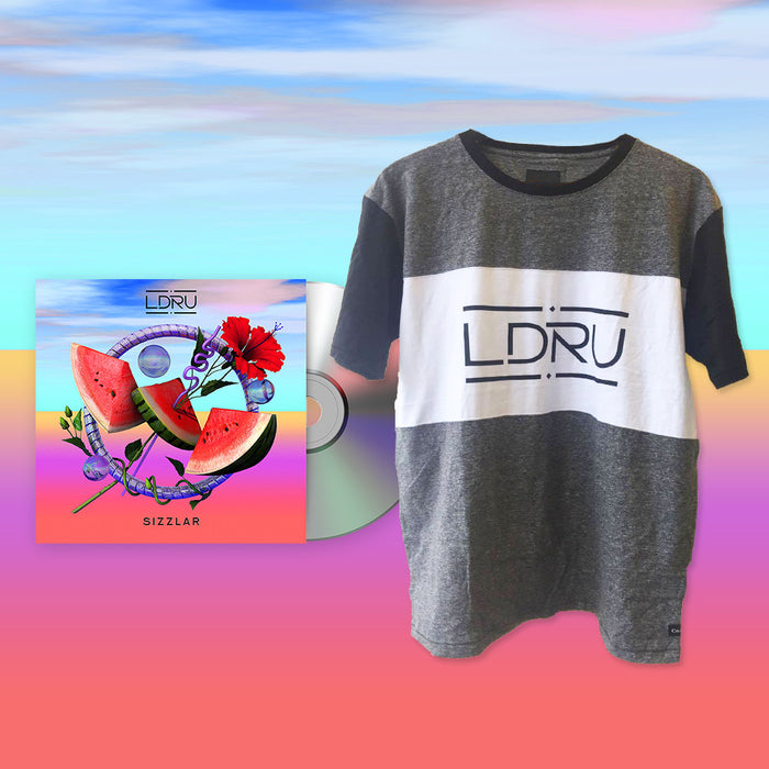 L D R U / Sizzlar (Grey T-shirt Bundle)