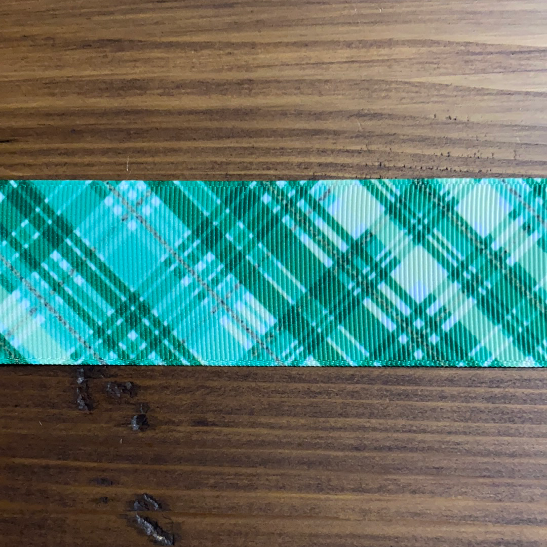 Green Crosshatch Hair Bows - LilaReneeCreations