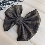 Black/Gold Metallic Noel Bows
