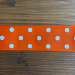 Orange Polka Dot Hair Bows
