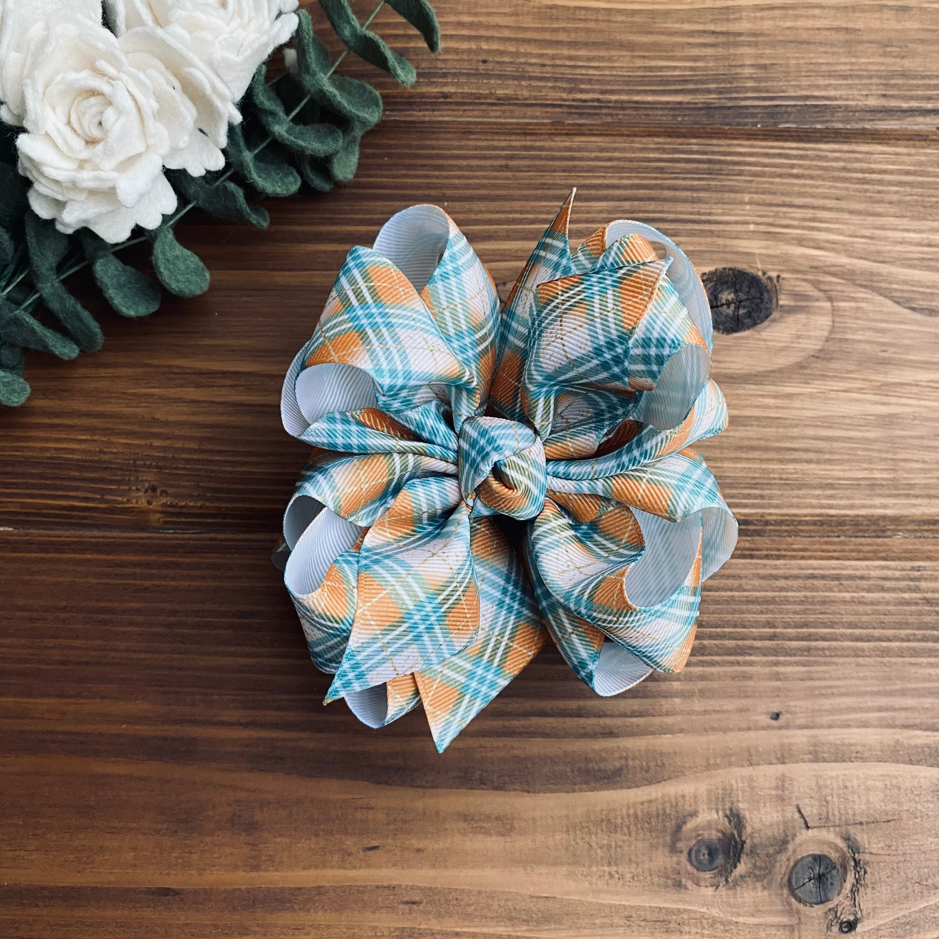 Fall Plaid Hair Bows