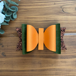 "RTS 5.5"" Orange/green Olivia Bow"