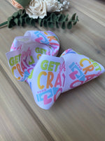 Cray-on XL boutique Hair Bows