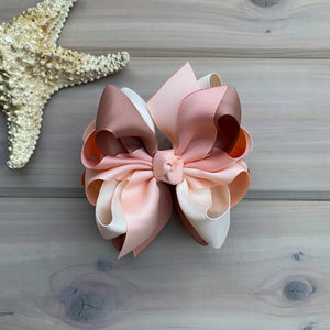 Peach Sands Multi Hair Bows - LilaReneeCreations