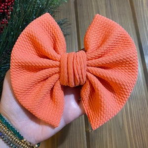 Coral Noel Bow - LilaReneeCreations