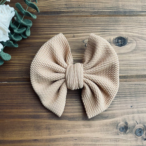 Camel Solid Noel Bows - LilaReneeCreations
