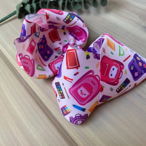 Pink going to school XL boutique Hair Bows