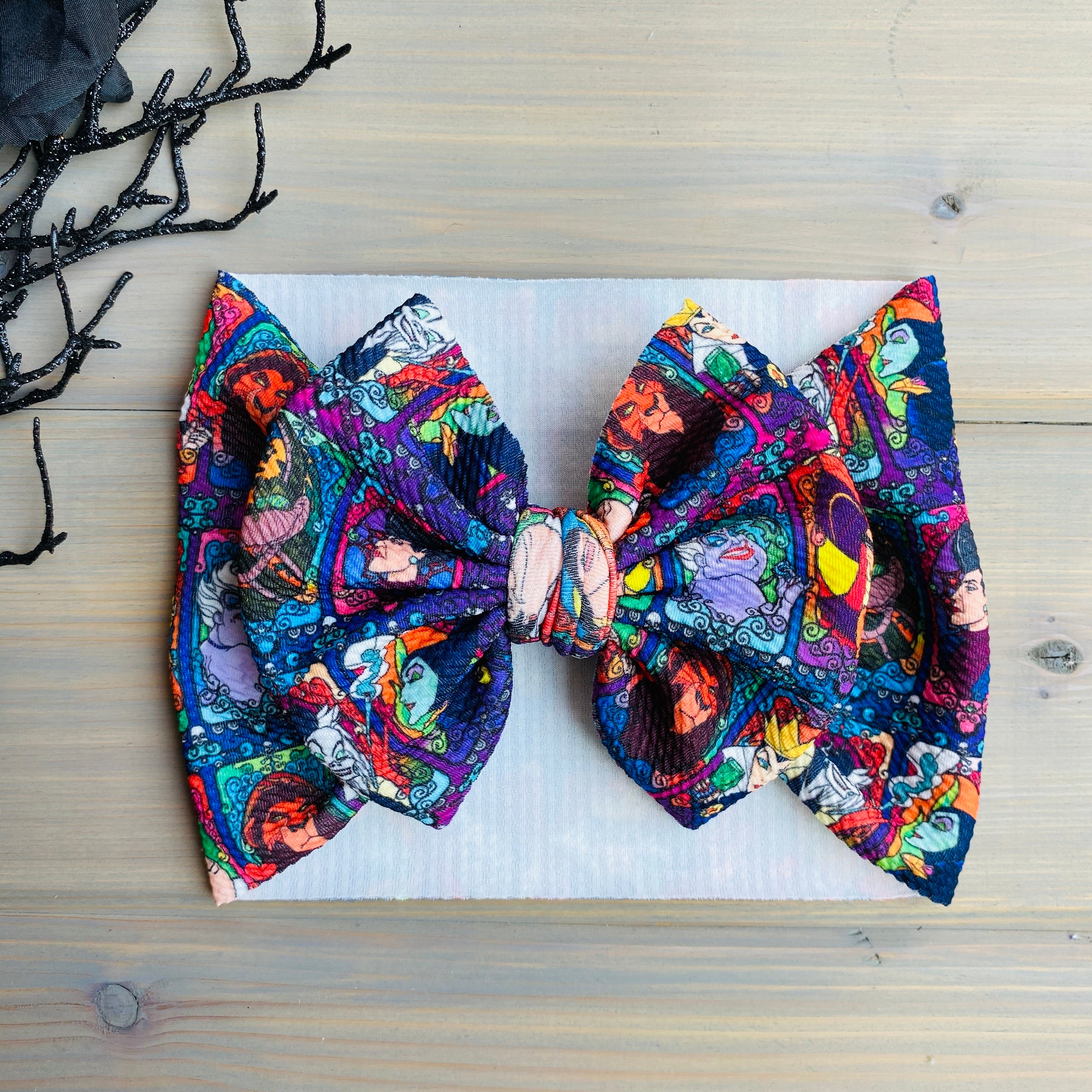 Villains Print Noel Bows