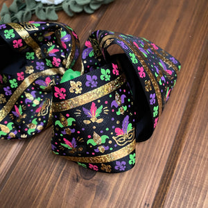 Fat Tuesday XL Boutique Hair Bows - LilaReneeCreations