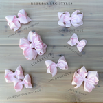 Pink leopard  Hair Bows