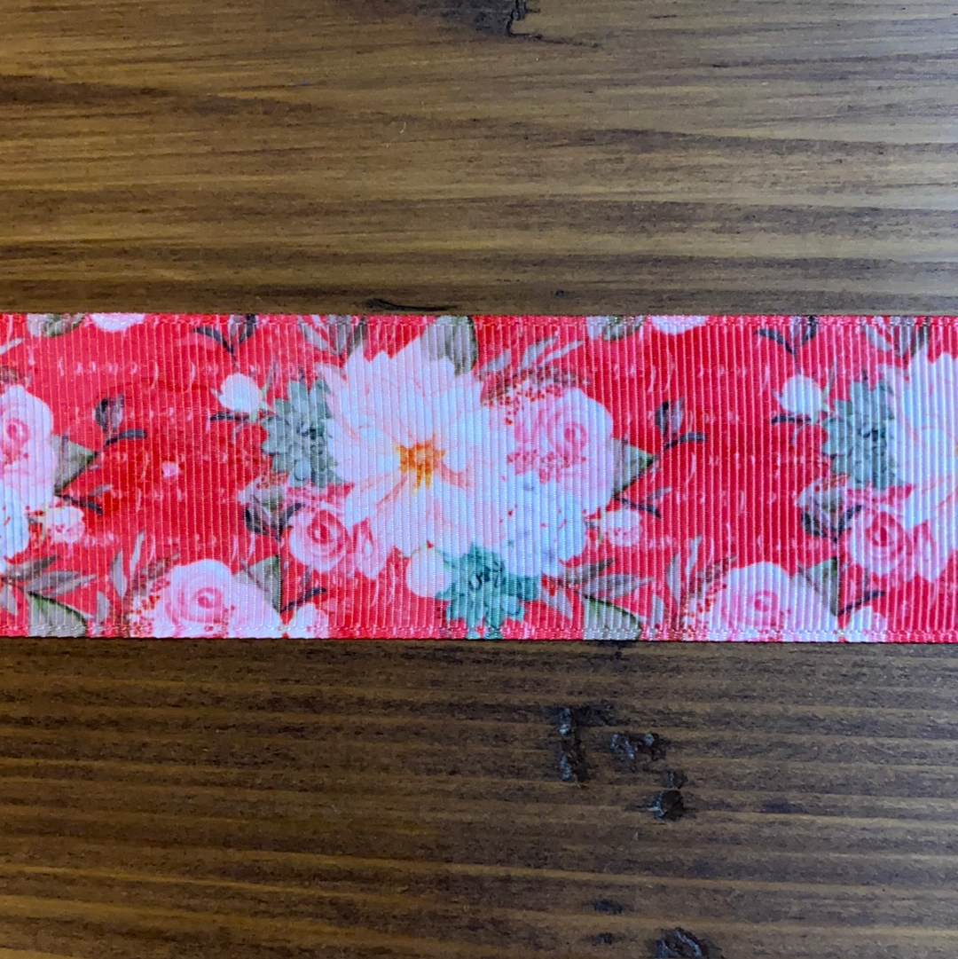 Red Floral Hair Bows