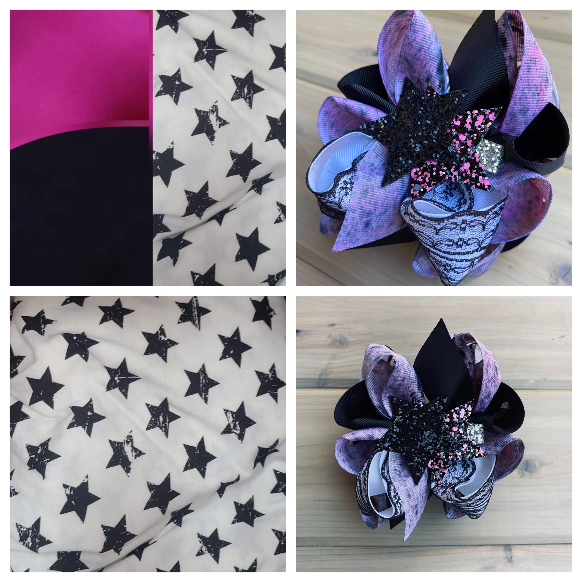 M2M Star Multicolor L&E w/ Nikki Clip  Hair Bow ~ Sierra Sky Boutique - LilaReneeCreations