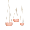 Coral Pink Industrial Hanging Planter