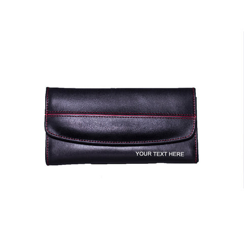Customized Ladies Leather Wallet Inner Zipper Pocket
