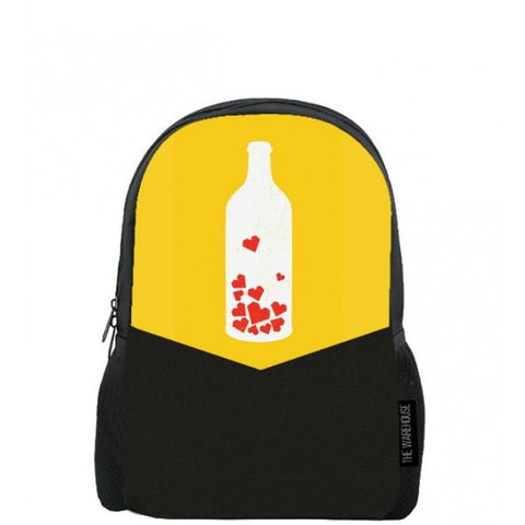 Love Bottle Printed Backpacks