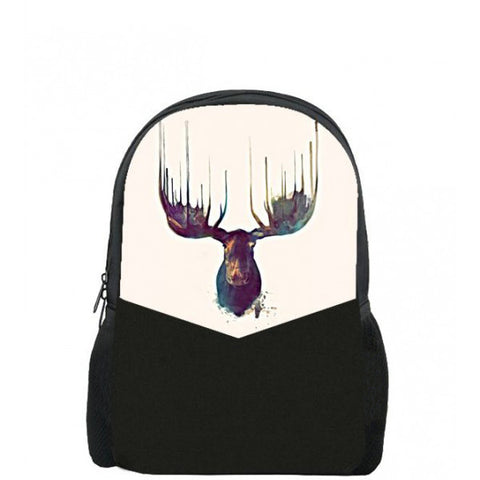 Deer Printed backpacks