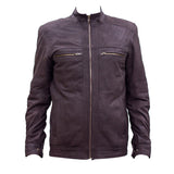 Leather Jacket With 2 Front Zipper Pockets