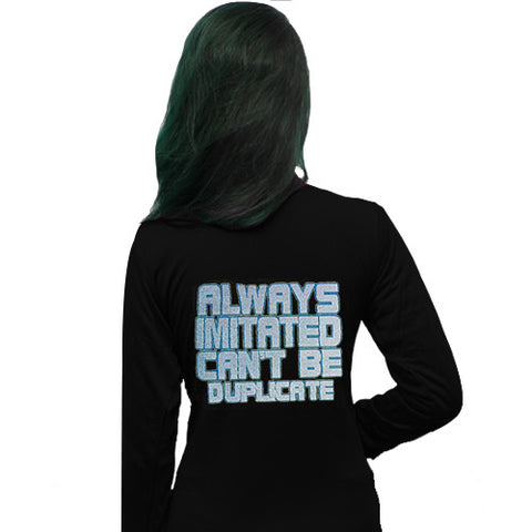 Always Imitated Can't Be Duplicate Printed Shrug