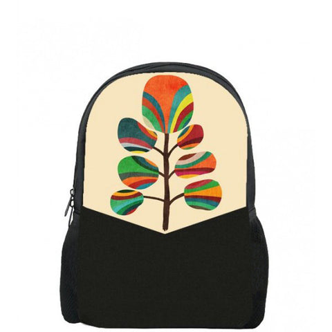 Abstract Tree Printed Backpacks