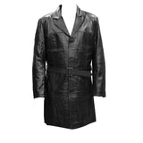 Leather Three Quarter Men Coat