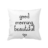 Good Morning Printed Cushion