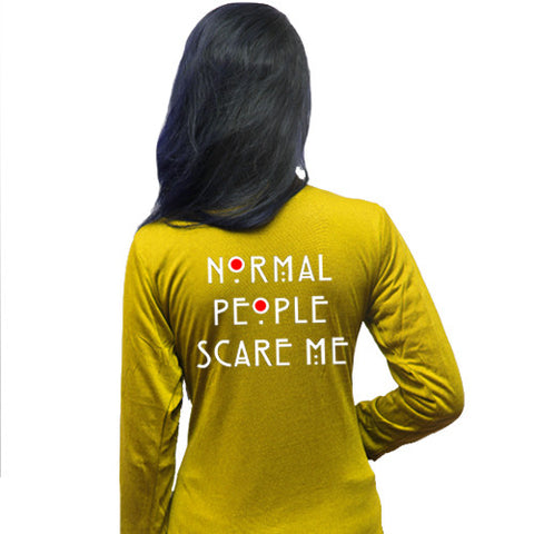 Normal People Scare Me Printed Shrug
