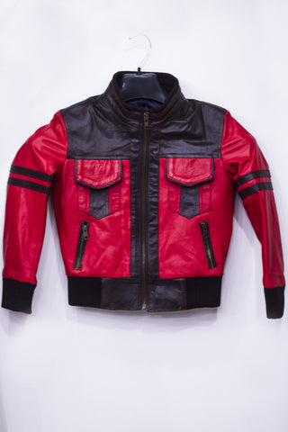 Leather Red And Black Jacket