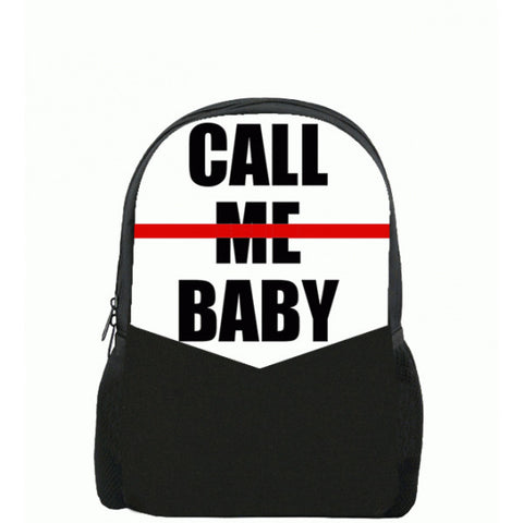 Call Me Baby Printed Backpacks