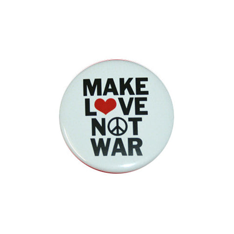 Make Love Not War Printed Button Badge