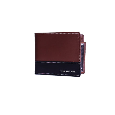 Leather Wallet With Black Line Across