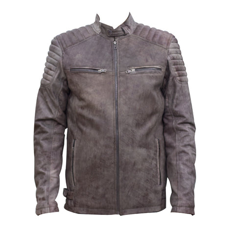 Leather Jacket With Two Front Pockets