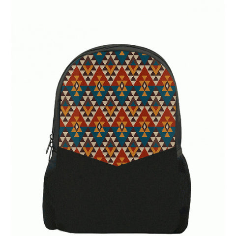 Aztec Pattern Printed Backpacks