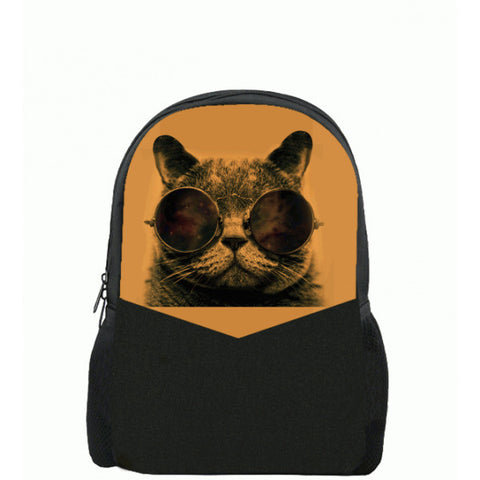 Cat Printed Backpacks