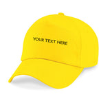 Customized Yellow Cap