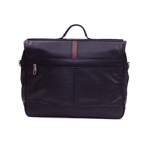 Customized Leather Office Bag Back Zipper Pocket