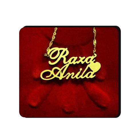 Customized Name Necklace Gold/Silver Plated